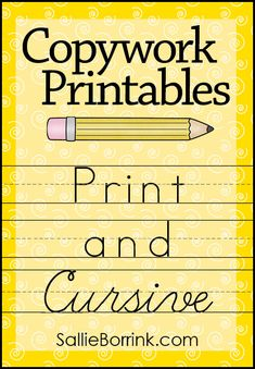 Copywork Printables in both cursive and print or manuscript version. There are dozens of options for science, history, geography, holidays, and more! Teaching Cursive Writing, Cursive Writing Worksheets, Pre Writing, Writing Skills, Shorthand Writing, Teaching Handwriting, Writing Lessons, Improve Your Handwriting, Cursive Handwriting Practice