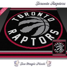 Toronto Raptors by Two Magic Pixels Tapestry Crochet Patterns, Crochet Afghans, Crochet Cross, Tunisian Crochet, Knitting Patterns, Pearler Bead Patterns, Graph Design, Bobble Stitch, Charts And Graphs