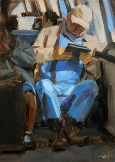 Carol Marine's Painting a Day... This could be Grandpa Ryan..... I seriously think it looks like him!