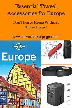 Don't leave home without these essential travel accessories for Europe! Each one of these travel accessories will help make your life easier, whether you are backpacking for 6 months, or taking a weekend break in a European capital.