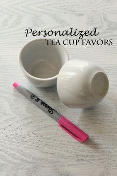 diy personalized tea cups | Icing Designs: Simple Tea Cup Favors