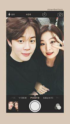 Seulmin ©strawberious Jimin Seulgi, Couple Wallpaper, Hot Couples, Best Couple, Bts Jimin, Instagram Story, Korea, Wattpad, Photoshop