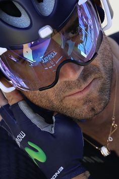 #TDF2016 Spain's Alejandro Valverde waits prior to the 375 km individual timetrial the thirteenth stage of the 103rd edition of the Tour de France cycling...