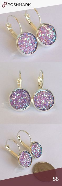 Lavender French back druzy style earrings Handmade earrings with druzy style charms Size is  14mm The backs are lead & nickel free   (Just comment under the items you like so I can make your bundle)  No trades please Price as listed Drusy/Druzy Bundle and save!!  1 pair = $8 2 pairs=$12 3 pairs=$15 4 pairs =$20 5 pairs =$25 6 pairs =$30 7 pairs =$35   Thanks for looking!!!! ⚜⚜ Jewelry Earrings