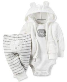 Carter's Baby Boys' 3-Pc. Hoodie, Bodysuit & Pants Set | macys.com