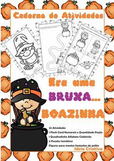 O Caderno de Atividades Halloween Era Uma Bruxa Boazinha foi projetado para crianças na faixa etária de 5 anos, podendo ser aplicado em turmas de 4 anos de acordo com a necessidade verificada pelo professor.