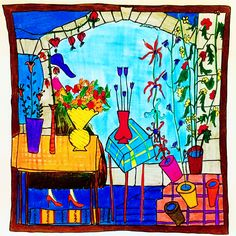#fleurs #florist #flower #houses #interiordesign #architecture #pochette #pocketsquare #poszetka #carre #silk #dessin #illustration #art #bespoke #menswear #drawing #sketchbook #colors