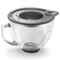 KitchenAid Stand Mixer Glass Bowl at Lowe's. The KitchenAid 5 Qt. Clear Glass Bowl is an accessory bowl for KitchenAid tilt-head stand mixers. The drip-proof spout and side handle let you pour Kitchenaid Stand Mixer, Kitchenaid Attachments, Kitchen Aid Mixer, Kitchen Tools, Kitchen Gadgets, Kitchen Dining, Kitchen Stuff, Kitchen Products