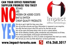 We go the extra mile for you. That's not a slogan, that's a promise! #officefurniture #gta #toronto #woodbridge #vaughan #mississauga #brampton #oakville #burlington #markham #whitby #concord #pickering #oshawa #ajax #office #furniture #impactofficefurniture #wecare