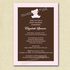 Mod Teddy Bear Baby Shower Invitation - Customizable - PRINTABLE INVITATION DESIGN by MommiesInk on Etsy https://www.etsy.com/listing/50342405/mod-teddy-bear-baby-shower-invitation