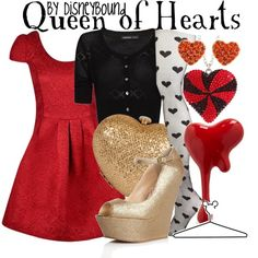 Queen of Hearts, created by lalakay on Polyvore disney