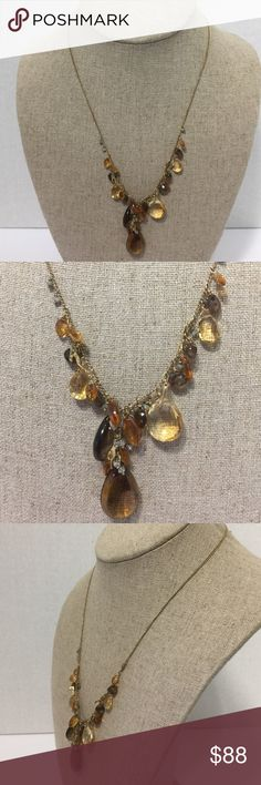 Alexis Bittar Women's Gold Tone Quartz Elements ❤️ Alexis Bittar Women's Gold Tone Smoky Quartz Elements Necklace  Sterling 925 Necklace 🌺 Alexis Bittar Jewelry Necklaces