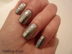 Nail Art - Subtle Metallic Tartan - Nailing It Short Nails, Long Nails, Subtle Nail Art, Metallic Nails, Nails Inc, Nail Shop, Cool Nail Designs, Nail Stamping, Perfect Nails