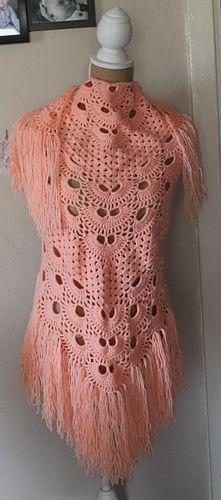 Virus Meets Granny Shawl -free crochet pattern-