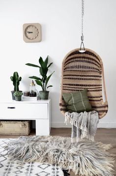 Home deco idea My Living Room, Home And Living, Living Room Decor, Living Spaces, Bedroom Decor, Bedroom Swing, Room Inspiration, Interior Inspiration, Sweet Home