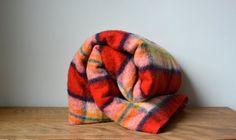 Vintage Rustic Large Canadian Plaid Wool by BlanketsAndCie on Etsy
