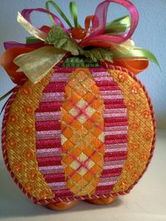 Argyle Pumpkin by EyeCandy Needleart