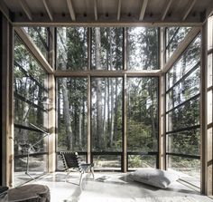wood and glass