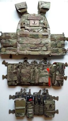 ideas about Tactical Vest Tactical Vest, Tactical Survival, Military Gear, Military Equipment, Plate Carrier Setup, Battle Belt, Airsoft Gear, Combat Gear, Chest Rig