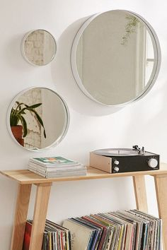 Averly Circle Mirror at Urban Outfitters, Starting at  $14 (on sale)Purchase one or several of these round copper mirrors for a simple, yet rustic, take on the geometric trend.
