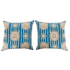 Pair of Art Deco Pillows by B.Viz Designs | From a unique collection of antique and modern pillows and throws at https://www.1stdibs.com/furniture/more-furniture-collectibles/pillows-throws/