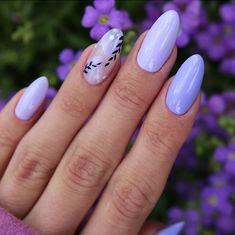 54 Perfect Short Acrylic Almond Nails Design For This Summer - Page 3 of 54 - Latest Fashion Trends For Woman - Pretty purple short almond nails design, short acrylic almond nails design, almond nails spring, al - Classy Almond Nails, Short Almond Nails, Nails Short, Almond Nails Designs, Purple Nail Designs, Acrylic Nail Designs, Nail Art Designs, Almond Acrylic Nails, Cute Acrylic Nails