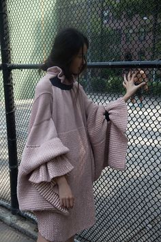 Italian designer Diletta Cancellato is doing all kinds of crazy good things with knitwear. Growing up alongside her tailor grandfather, Diletta learned every detail of quality clothing construction first hand. She continued her education in Milan but it wasn't until she completed her MFA at