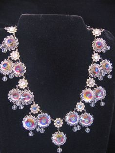 Vintage Rivoli-Crystal Statement Bib Necklace from vintagejewelrylounge on Ruby Lane