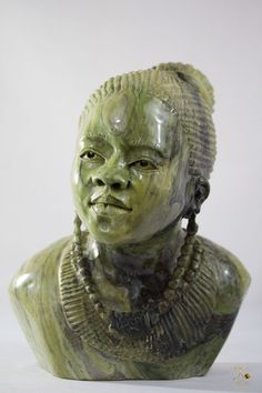 Butter Jade Stone Carved - Woman Sculpture - T. M. GIDI Signed- Shona Art Sculpture Art, Sculptures, Jade Stone, African Animals, Butter, Carving, Statue, Woman, Best Deals