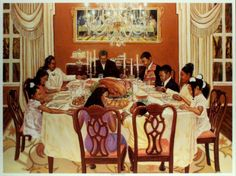 Together We Give Thanks Art Print 24x34 - Click Image to Close