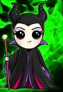 Who is more evil 😈 maleficent or mal Kawaii Girl Drawings, Cute Girl Drawing, Disney Drawings, Cartoon Drawings, Easy Drawings, Kawaii Disney, Cute Disney, Disney Art, Disney Belle