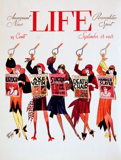 Cover, Life Magazine, 1928. Russell Patterson