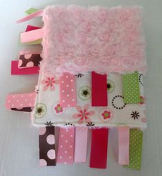 Hey, I found this really awesome Etsy listing at https://www.etsy.com/listing/243596750/girl-sensory-blanket-pink-tag-blanket