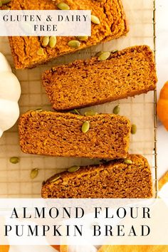 Almond flour pumpkin bread is gluten and dairy free, paleo friendly and sweetened naturally with maple syrup. It makes for a healthy and delicious pumpkin bread recipe you can enjoy all fall long! #pumpkinbread #almondflour #glutenfree #grainfree #dairyfree #paleofriendly #lowsugar #pumpkinspice #healthy #onceuponapumpkin Pumpkin Spice Syrup, Pumpkin Bread, Sugar Pumpkin, Savory Pumpkin Recipes, Healthy Pumpkin, Almond Flour Recipes, Bread Recipes, Baking Recipes, Diet Recipes