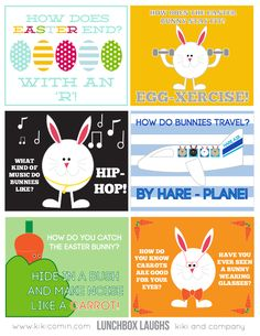 Lunchbox Laughs- Easter Bunny edition {free printable}