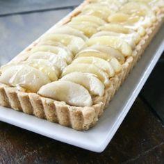 Bartlett pear tart with rosemary crust