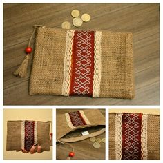 Clutch for order 01099448062 or dm Trendy Trend Beauty Fashion Fabric Wallet, Diy Wallet, Sewing Crafts, Sewing Projects, Embroidery Bags, Jute Bags, Kids Bags, Bag Organization, Favor Bags