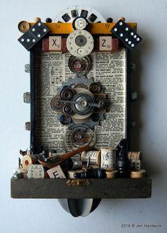 Box Art Assemblage  X & Z  Found Object Art  by redhardwick $175.00 + shipping.