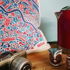 Vianina Vienna Cushion Happy New Home, Medieval Town, City Maps, Vera Bradley Backpack, Vienna, Cushion, Bags, Tips, Handbags