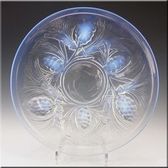 SIGNED Jobling Art Deco Opalescent Glass Fircone Plate - £120.00
