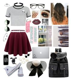 Untitled #138 by ptomusic on Polyvore featuring polyvore, мода, style, WithChic, Converse, Bling Jewelry, Miss Selfridge, Lipsy, Casetify, Revo, ZeroUV, Oscar de la Renta, Lime Crime, Ella Doran, Thomsen Paris, fashion and clothing