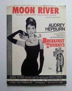 Audrey Hepburn in Breakfast at Tiffany's.  #brokenartstudio #sheetmusic #moonriver #audreyhepburn #breakfastattiffanys by artmaker115