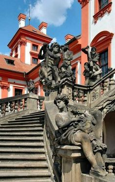 Troja Chateau (Troja Palace) in Prague