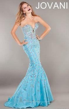 Vestido azul jovani la