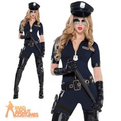 Adult stop traffic police #woman #costume #ladies sexy cop fancy dress outfit new, View more on the LINK: http://www.zeppy.io/product/gb/2/151368486600/