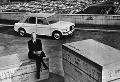 Alec Issigonis with a Riley Kestrel in 1963 Fifth Gear, Monte Carlo Rally, Diesel Cars, Kestrel, Car Magazine, How To Be Likeable, First Car, Performance Cars, Commercial Vehicle