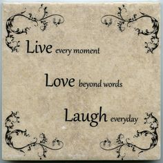 Live Love Laugh Ceramic Tile 6