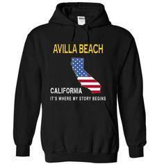 AVILLA BEACH  - Its Where My Story Begins - #geek tshirt #hoodie style. SATISFACTION GUARANTEED => https://www.sunfrog.com/States/AVILLA-BEACH--Its-Where-My-Story-Begins-opwmx-Black-14231894-Hoodie.html?68278