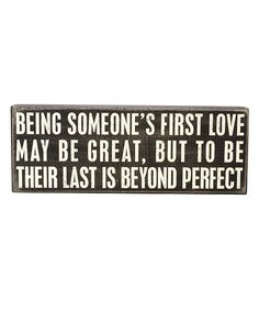 Another great find on #zulily! 'Beyond Perfect' Box Sign #zulilyfinds