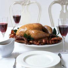 Happy traditional roast turkey